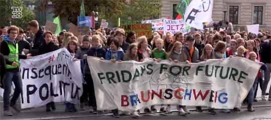 Klima-Demo in Braunschweig