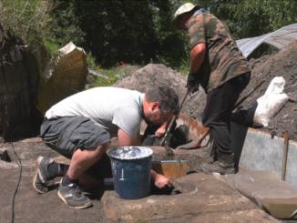 Ausgrabung am Paleon Schöneberg