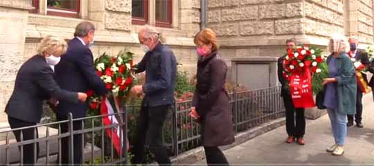 Kranzniederlegung für die Opfer der Rieseberg-Morde