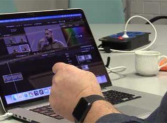 Videobearbeitung auf dem Laptop