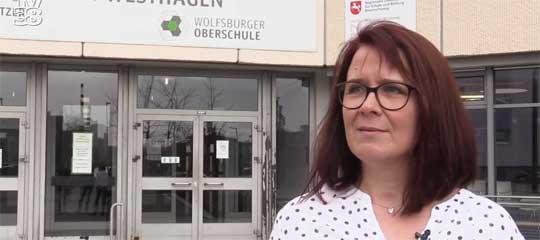 Sandra Trümpert-Pätz von der Oberschule WOB freut sich auf den angekündigten Neubau