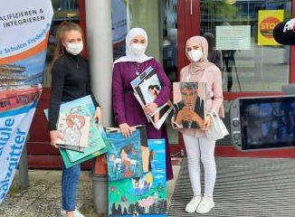 Mit Kunst durch die Krise – drei Schülerinnen aus Salzgitter zeigen ihre Bilder, die sie während der Coronazeit gemalt haben